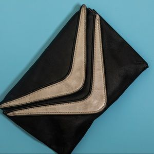 80's Glam rock leather clutch